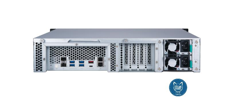NEW QNAP 12 BAY RACK NAS RYZEN 5-2600/8GB/2YW ( TS-1277XU-RP-2600-8G)