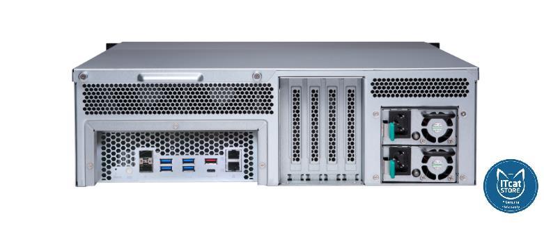 NEW QNAP 16 BAY RACK NAS RYZEN 5-2600/8GB/2YW (TS-1677XU-RP-2600-8G)