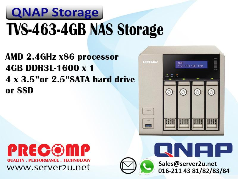 QNAP Business ‐Middle End NAS Storage (TVS-463-4G)