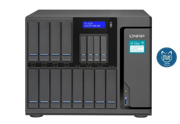 NEW QNAP HIGH-CAPACITY QUAD-CORE 16-BAY BUSINESS NAS-2YW (TS-1635-8G)