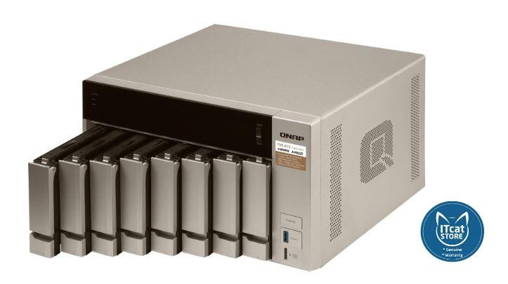 NEW QNAP HIGH-PERFORMANCE 10GBE-ENABLED BUSINESS NAS 2YW (TVS-873-8G)