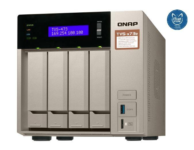 NEW QNAP POWERFUL BUSINESS NAS WITH AMD RX-421BD-2YW (TVS-473e-8G)