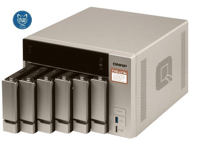 NEW QNAP POWERFUL BUSINESS NAS WITH AMD RX-421BD-2YW (TVS-673e-8G)