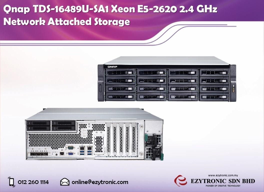 Qnap TDS-16489U-SA1 Xeon E5-2620 2 4 GHz Network Attached Storage