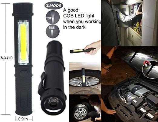 QNIGLO New Arrvied Mini Multifunction 10000 Lumens LED Flashlight