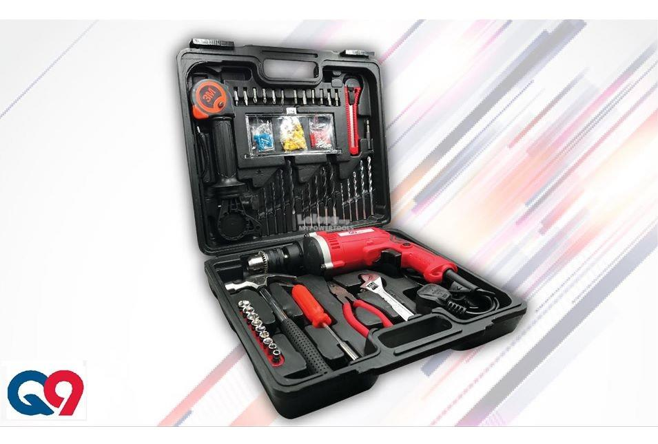 QNine 780W 13mm Impact Drill with 100pcs Accessories Set