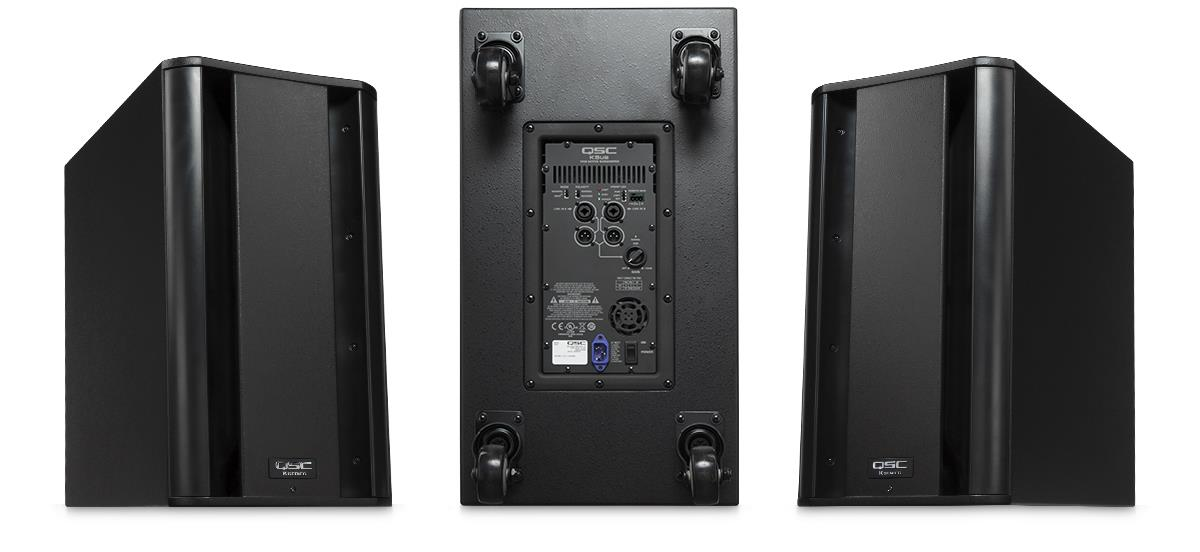"QSC KSUB (1000W, 2x12"") - Powered Subwoofer Loudspeaker (NEW)"