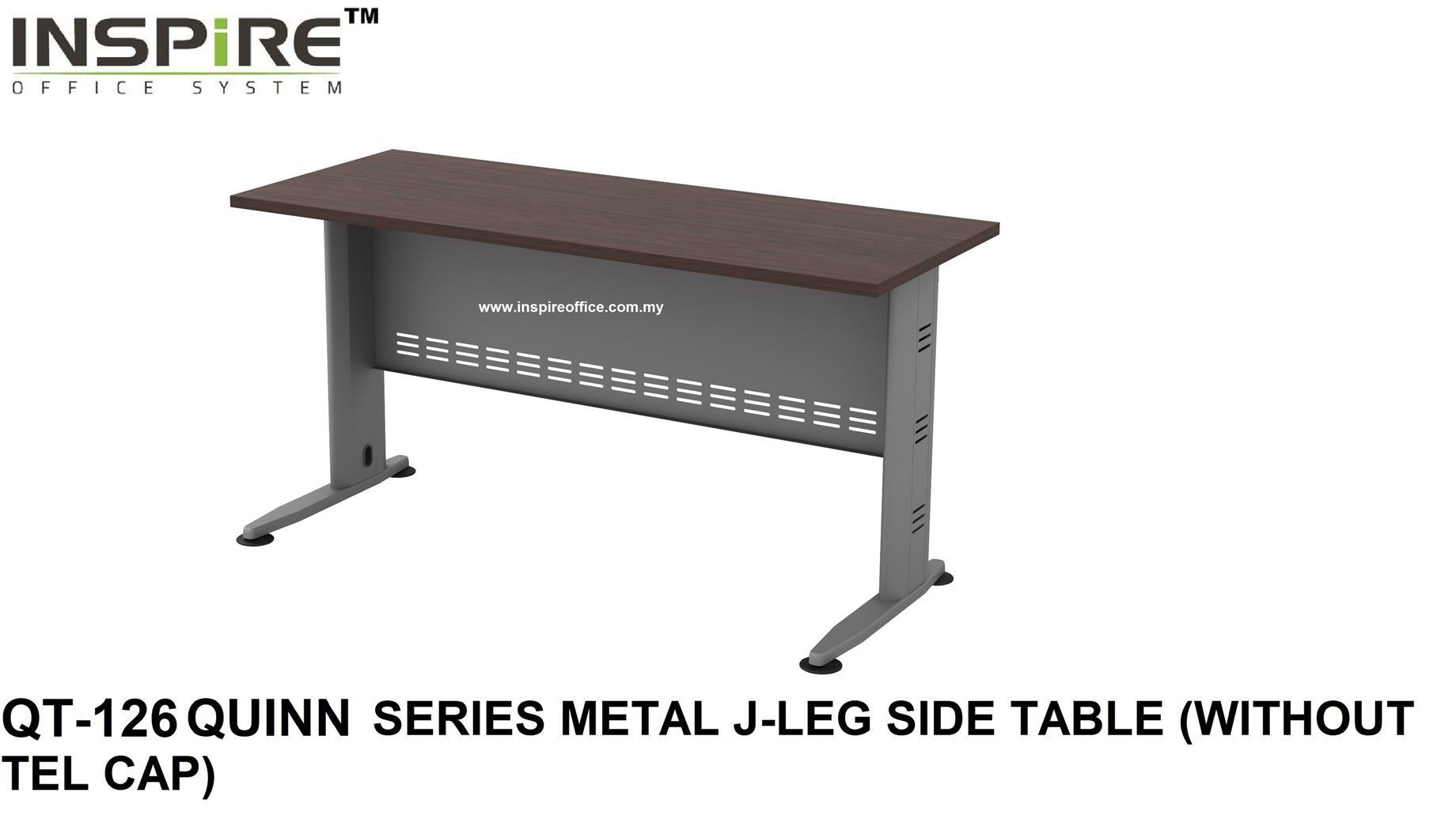 Sidetable Wit Hout.Qt 126 Quinn Series Metal J Leg Side Table Without Tel Cap