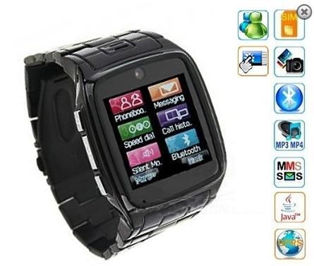 QuadBand Touch Screen Watch Phone with Camera (WP-TW810B).