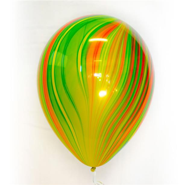 Qualatex Traditional Rainbow SuperAgate 11-inch Marble Balloon (3pcs)