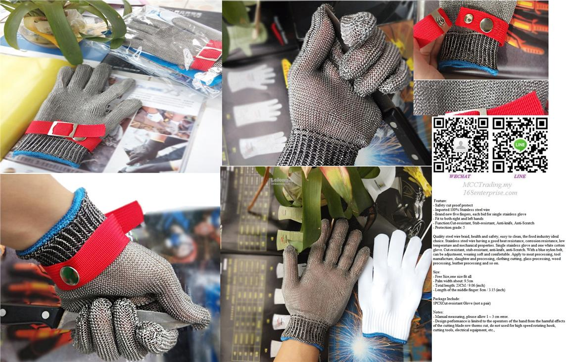 Best Quality Durable Cut Resistant Stainless Steel Mesh Safety Glove