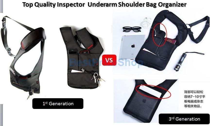Quality Inspector Shoulder Organizer Underarm Pouch Wallet Redalex Beg