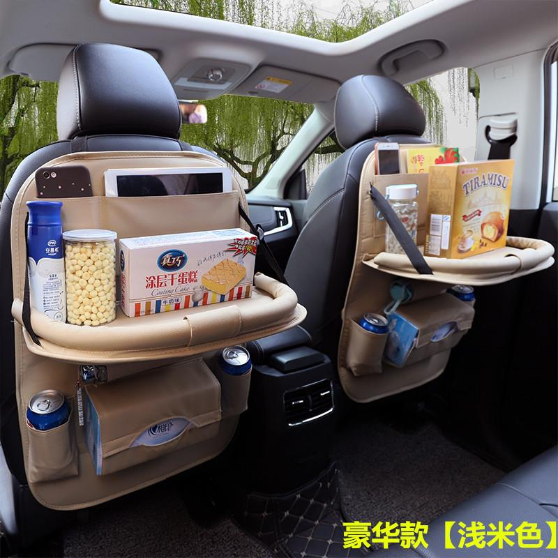 Quality Pu Leather Car Seat Back Organizer With Ipad Tablet Holder
