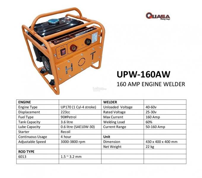 Quasa 160amp Engine Welding Equipment Machine