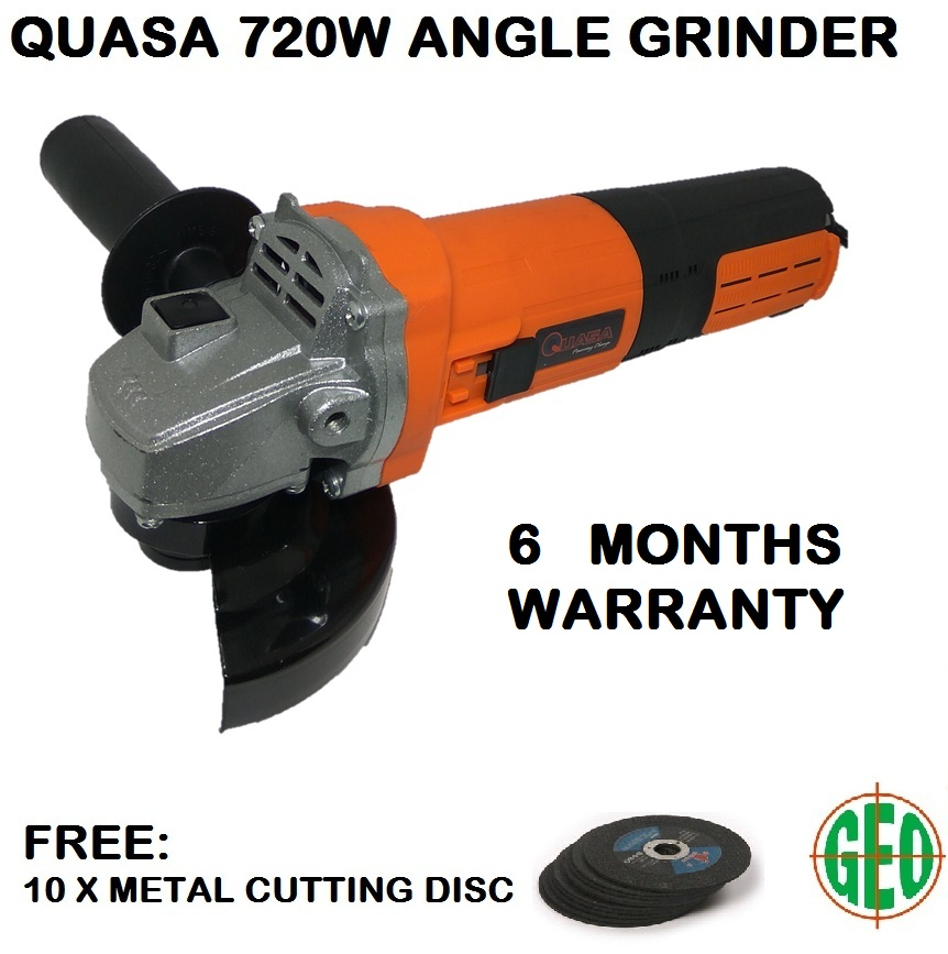 QUASA CYG-47200 720W 4IN/100MM ANGLE GRINDER WITH 10 CUTTING DISC
