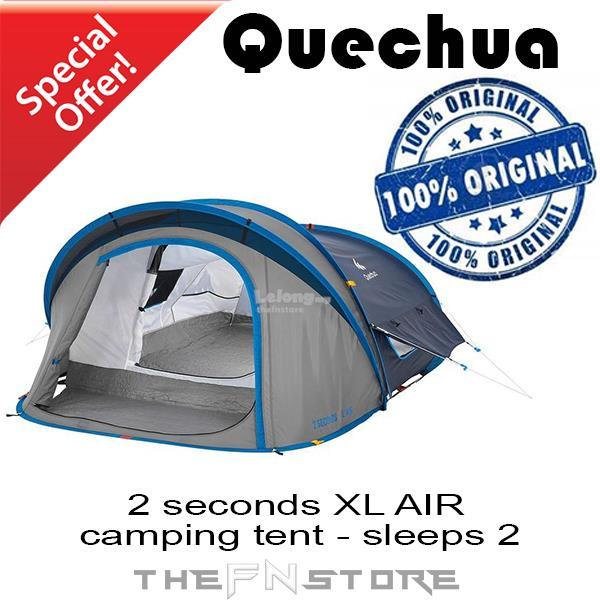 QUECHUA 2 seconds XL AIR c&ing tent - sleeps 2  sc 1 st  Lelong.my & QUECHUA 2 seconds XL AIR camping te (end 1/20/2018 10:15 AM)