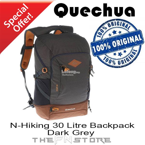 338e18612a QUECHUA N- Hiking travel 30 Litre bag Backpack - Dark Grey. ‹ ›