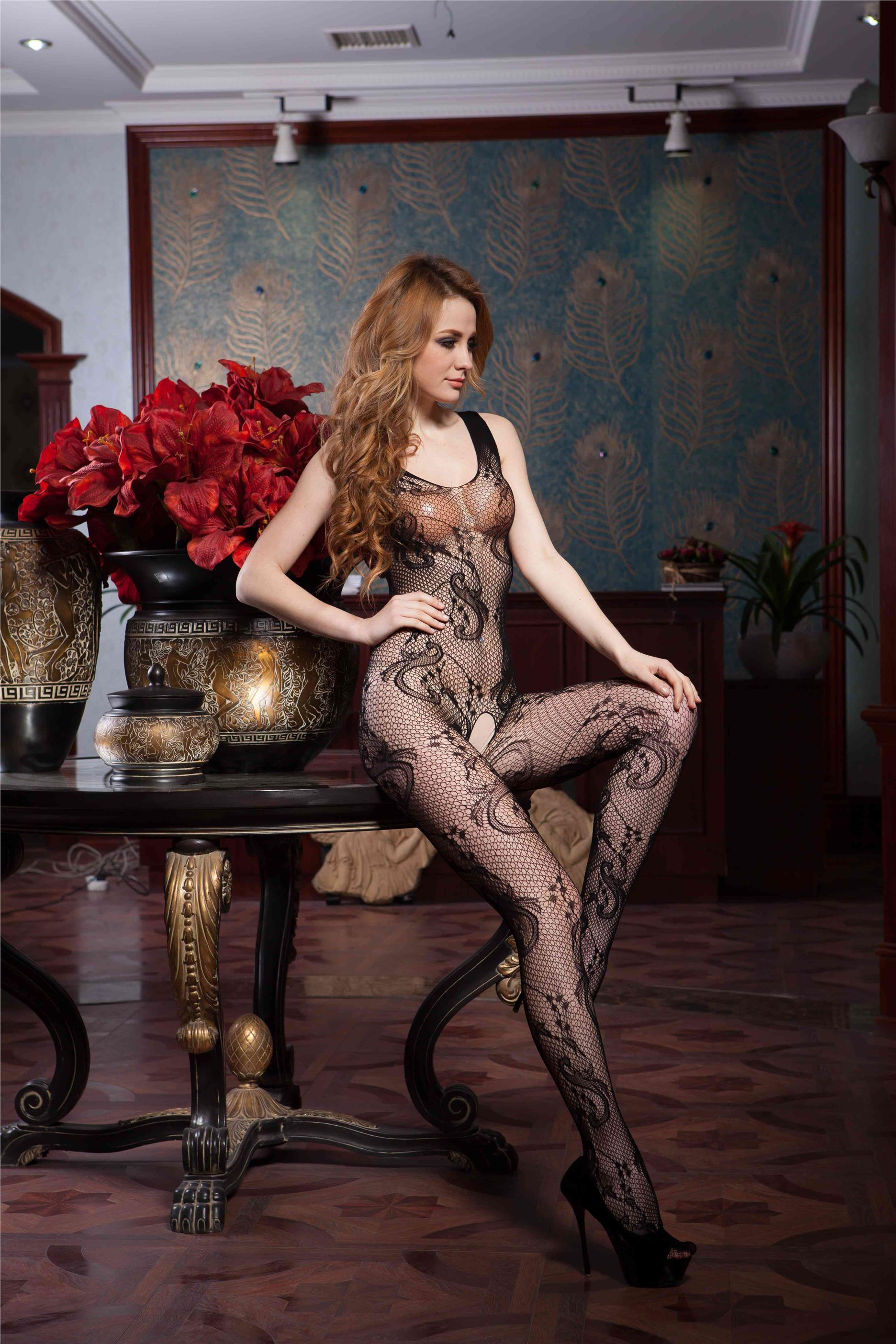Queen Size Body Stocking / Fishnet Suit OY-H3021P