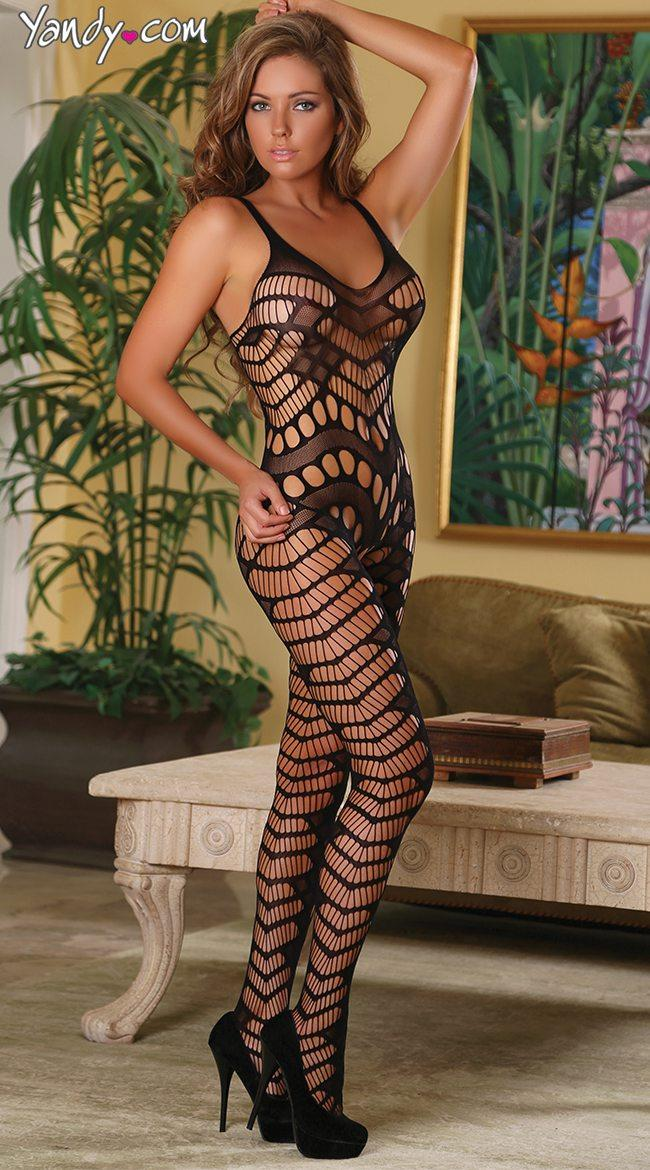 Queen Size Body Stocking / Fishnet Suit OY-H3123P