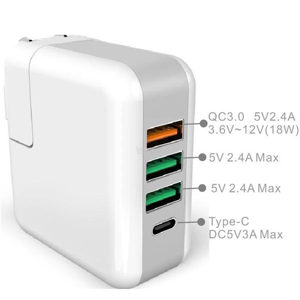 Quick Charger 3.0 4 port UK Type Charging Adapter