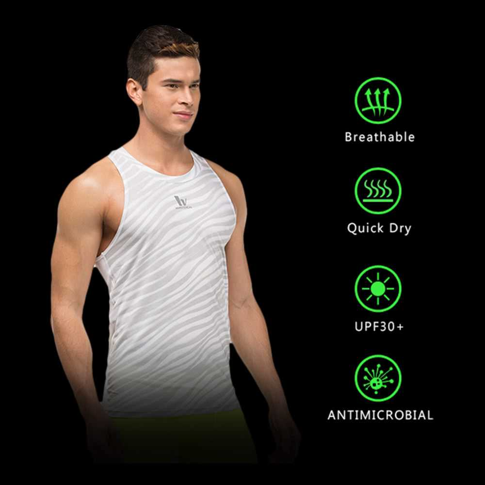 Quick-dry Men Bodybuilding Clothing Fitness Top Mens Sleeveless Shirt Sports V