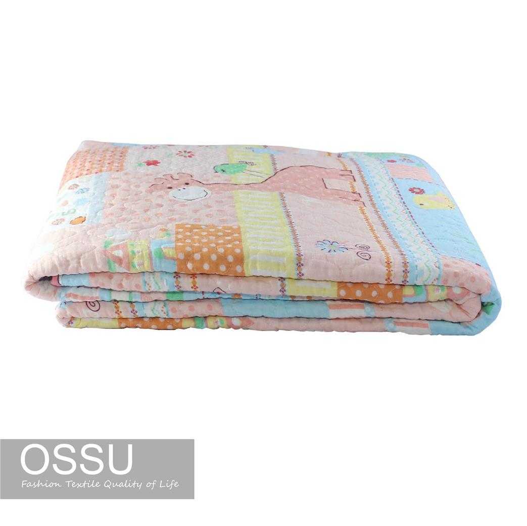 The quilt is reversible with different print on both sides for a compl