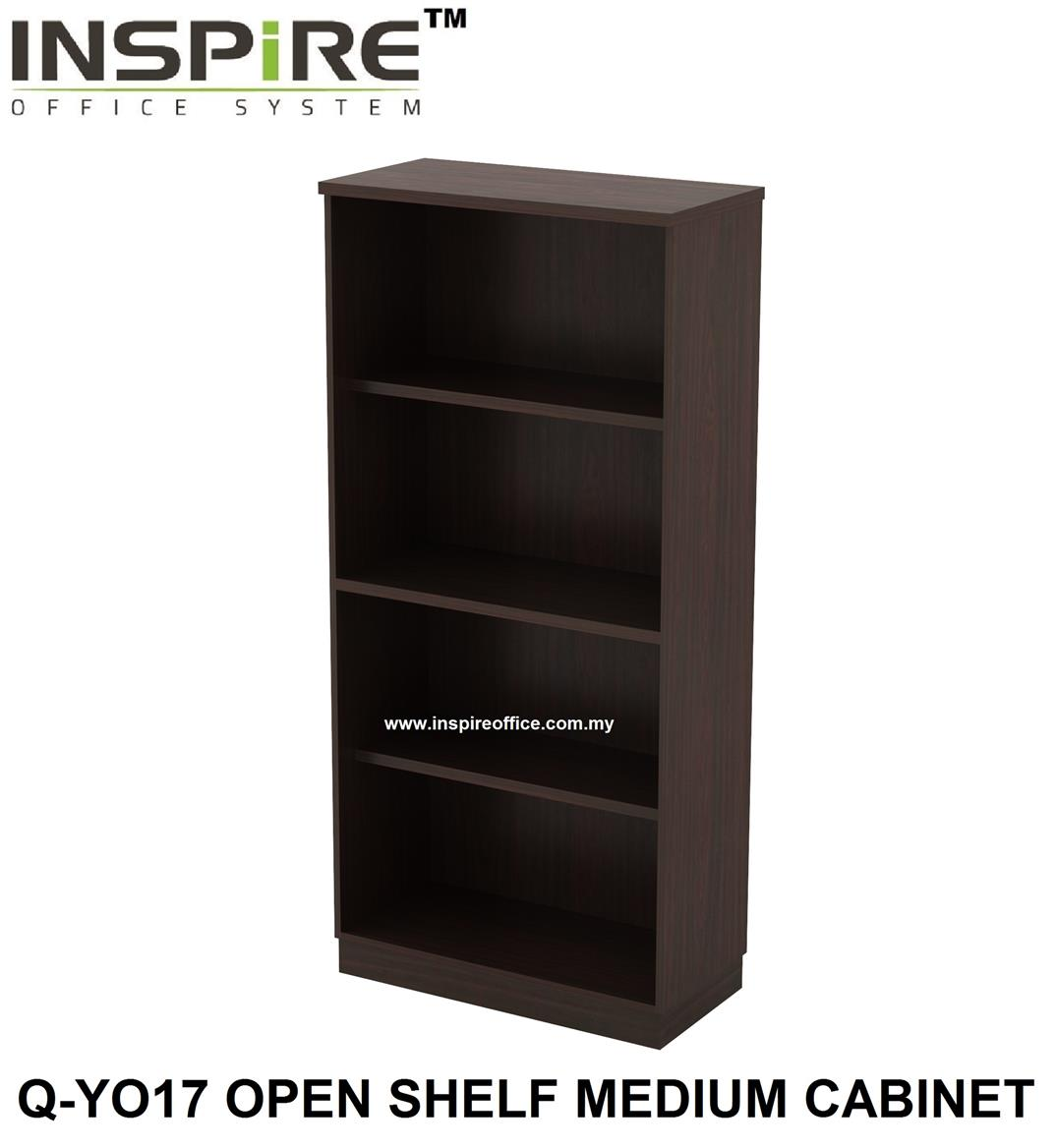 QUINN SERIES Q-YO17 OPEN SHELF MEDIUM CABINET