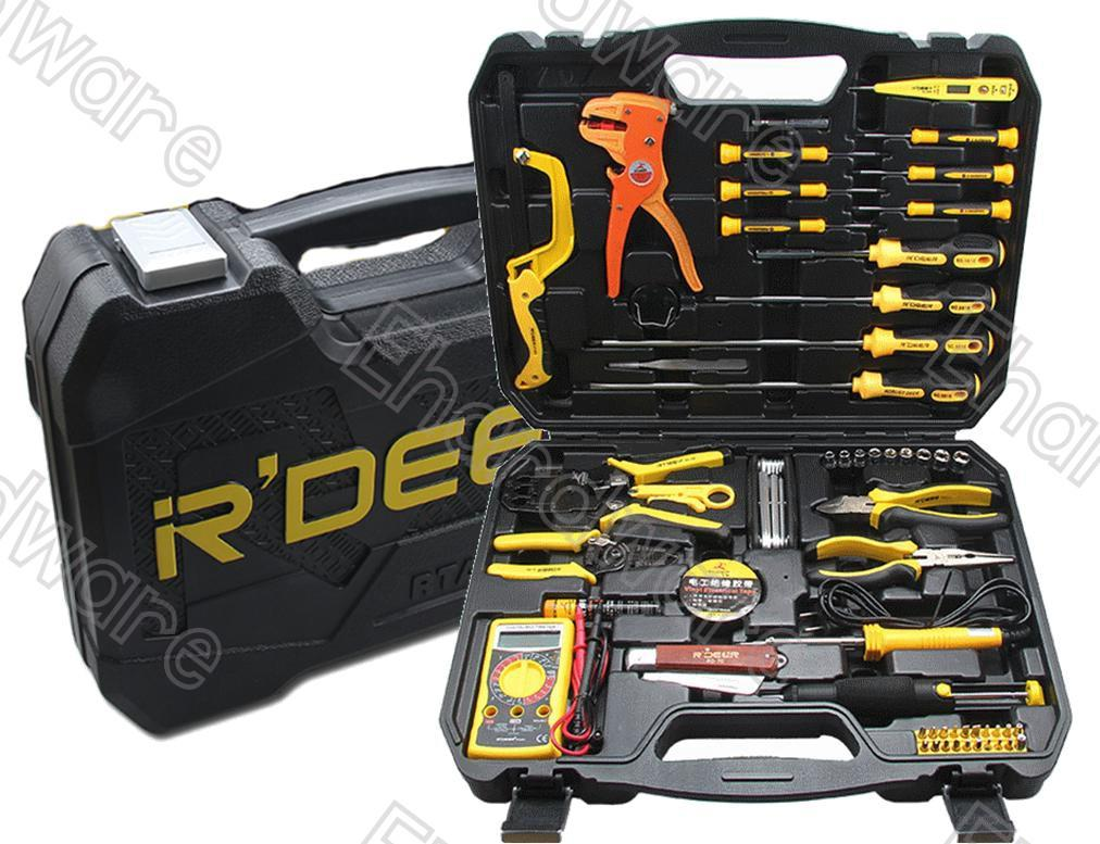 R'Deer 63Pcs Electrician Repair Tools Kit (RTA-63)