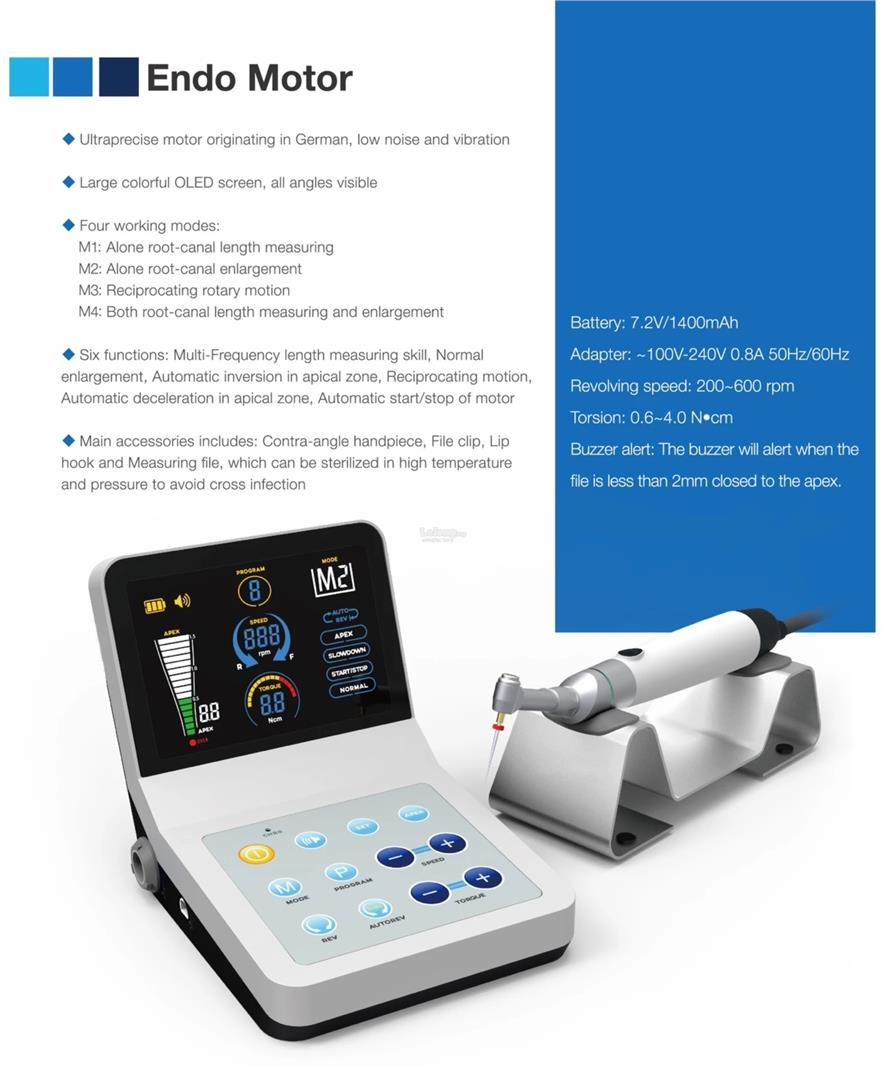 R Smart Plus Endo Motor Apex Locator Dental Endodontic Root Canal Unit