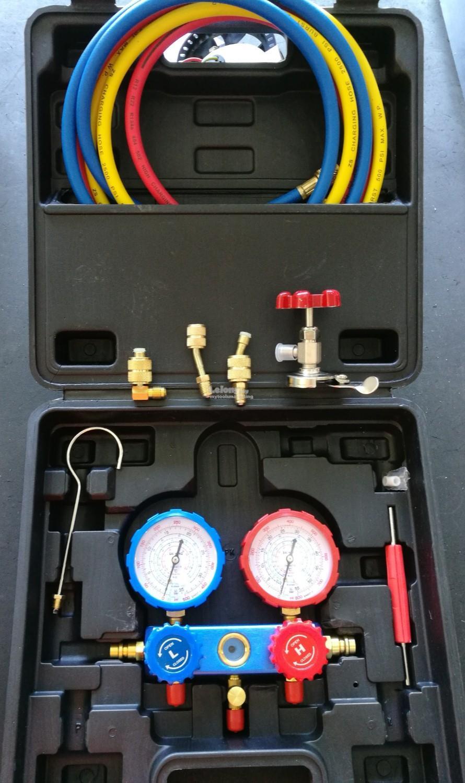 R22 / R134a / R404a / R410a Multipurpose Manifold Gauge Set