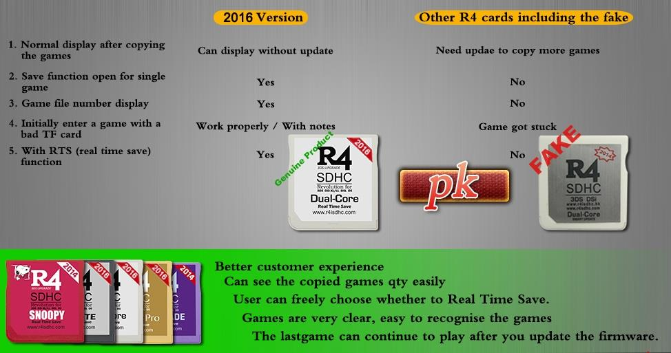 R4 3DS UPGRADE 2016 FOR 3DS / DSI XL / LL / DSL DS NINTENDO