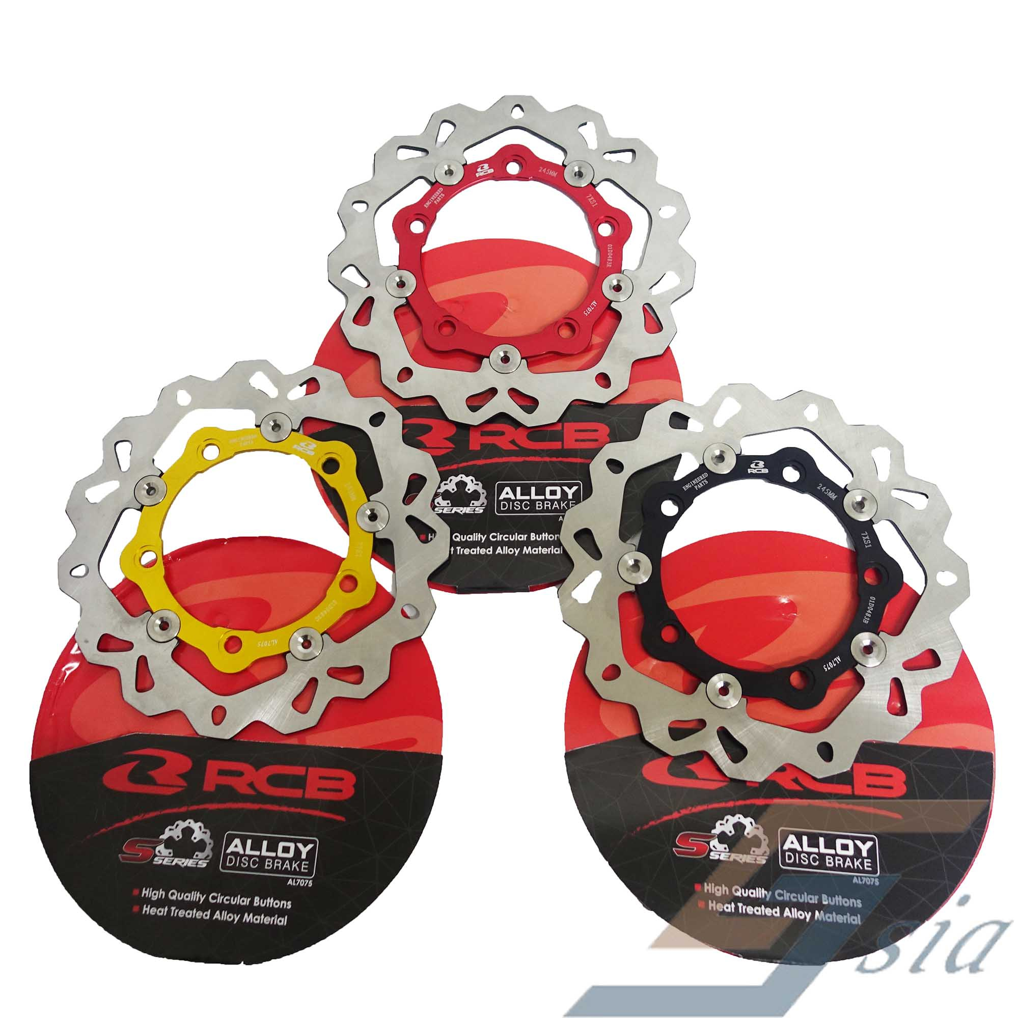 Racing Boy Alloy Disc S-Series (F) Yamaha Y15ZR 245mm(Ori)(Red)