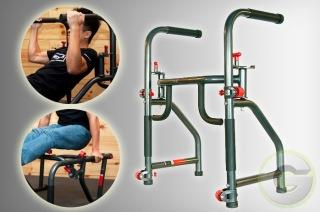 The Rack All in One Gym Workout Dip Station Dumbbell 6 Six Pack Muscle