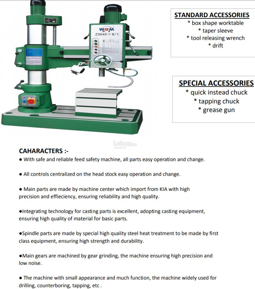 Radial Drilling Machine (end 7/5/2020 3:15 PM)