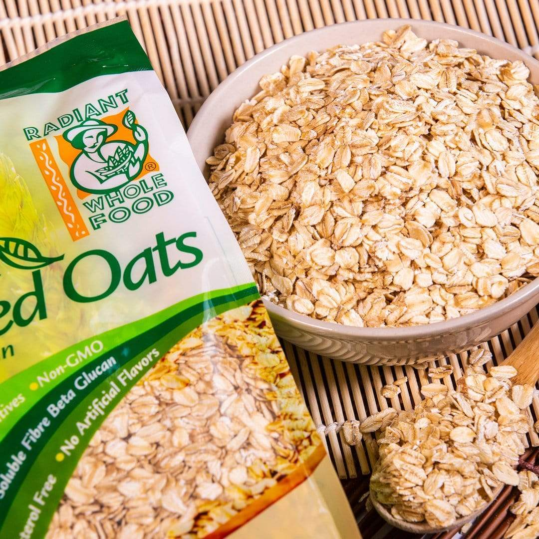 Radiant Rolled Oats Wholegrain Organic 500g X 2pacs