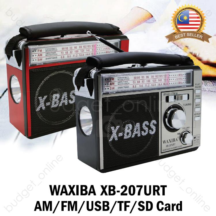 Radio WAXIBA Portable Player AM/FM/USB/TF/SD Card XB-207URT