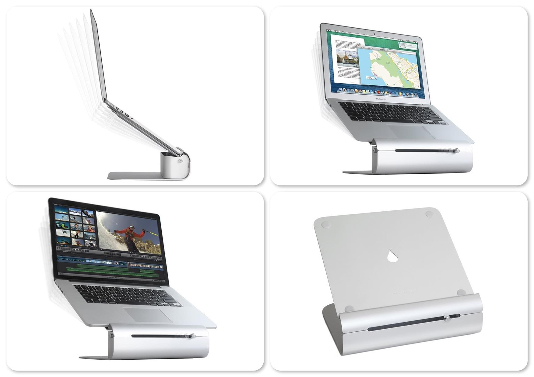Rain Design iLevel 2 Adjustable Height Notebook Stand for MacBook
