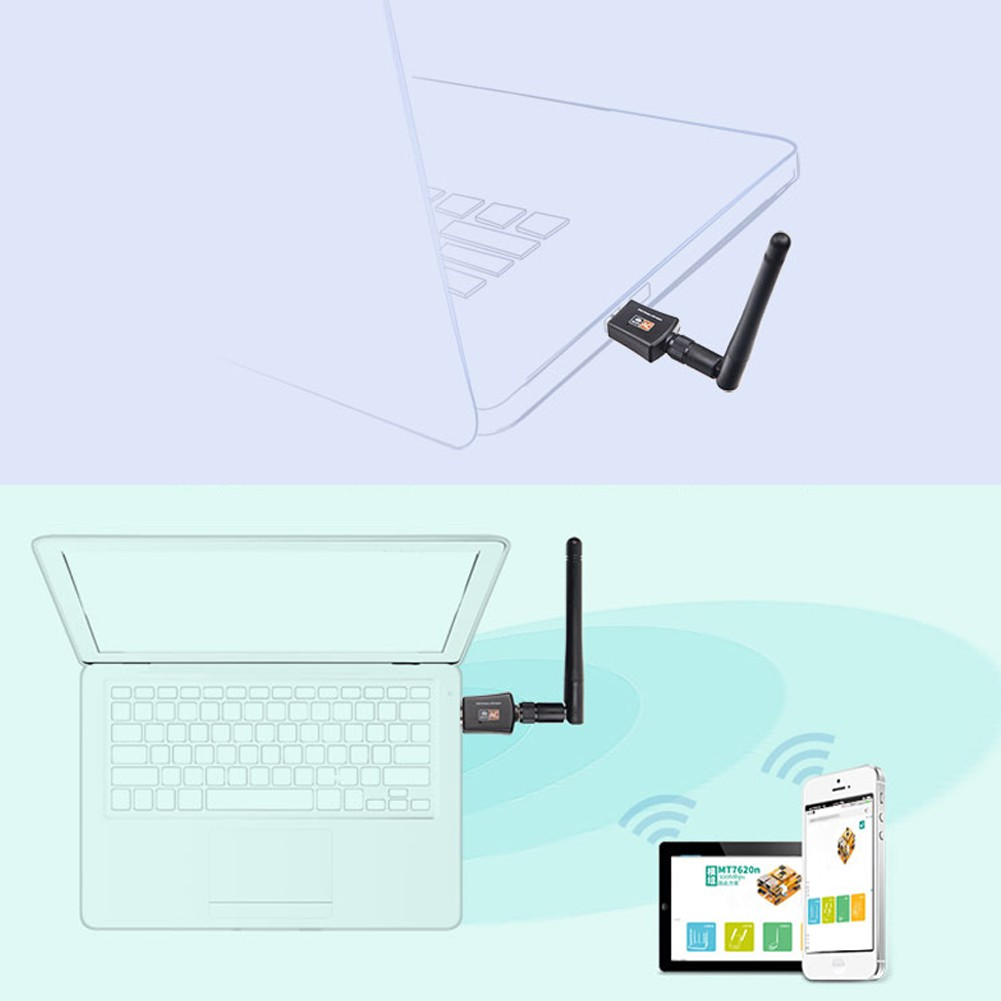 Rainbow 600Mbps Dual Band 5ghz WIRELESS Lan USB Pc Wifi Adapter Antenn