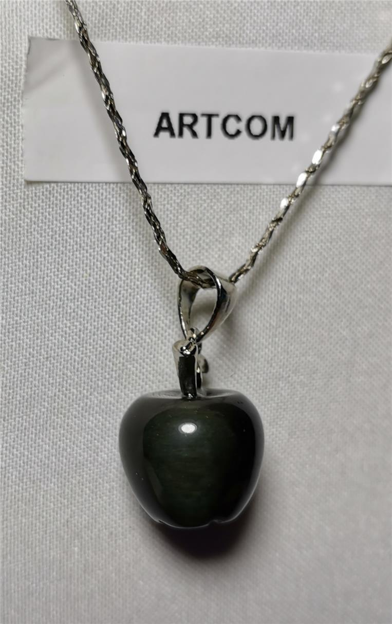 Rainbow Obsidian Apple Pendant (12mm)