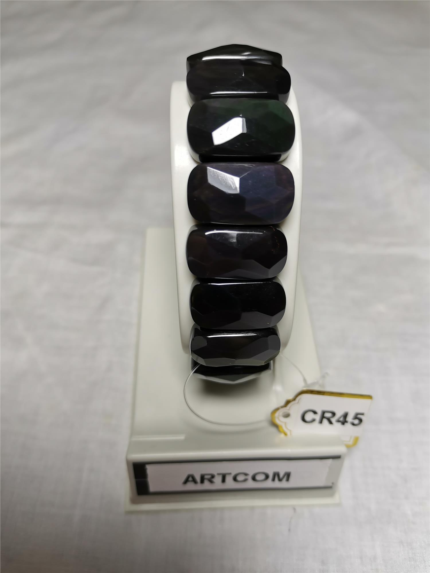 Rainbow Obsidian Faceted Rectangle (10*18mm)