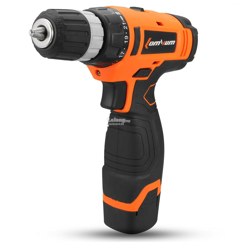 Raitool™ 16V Electric Drill Driver Cordeless Hand Drill Two Speed With