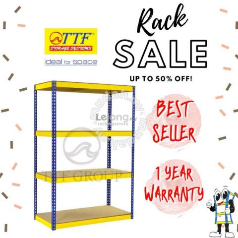 Rak Besi / Boltless Rack 400 KG Adjustable Level
