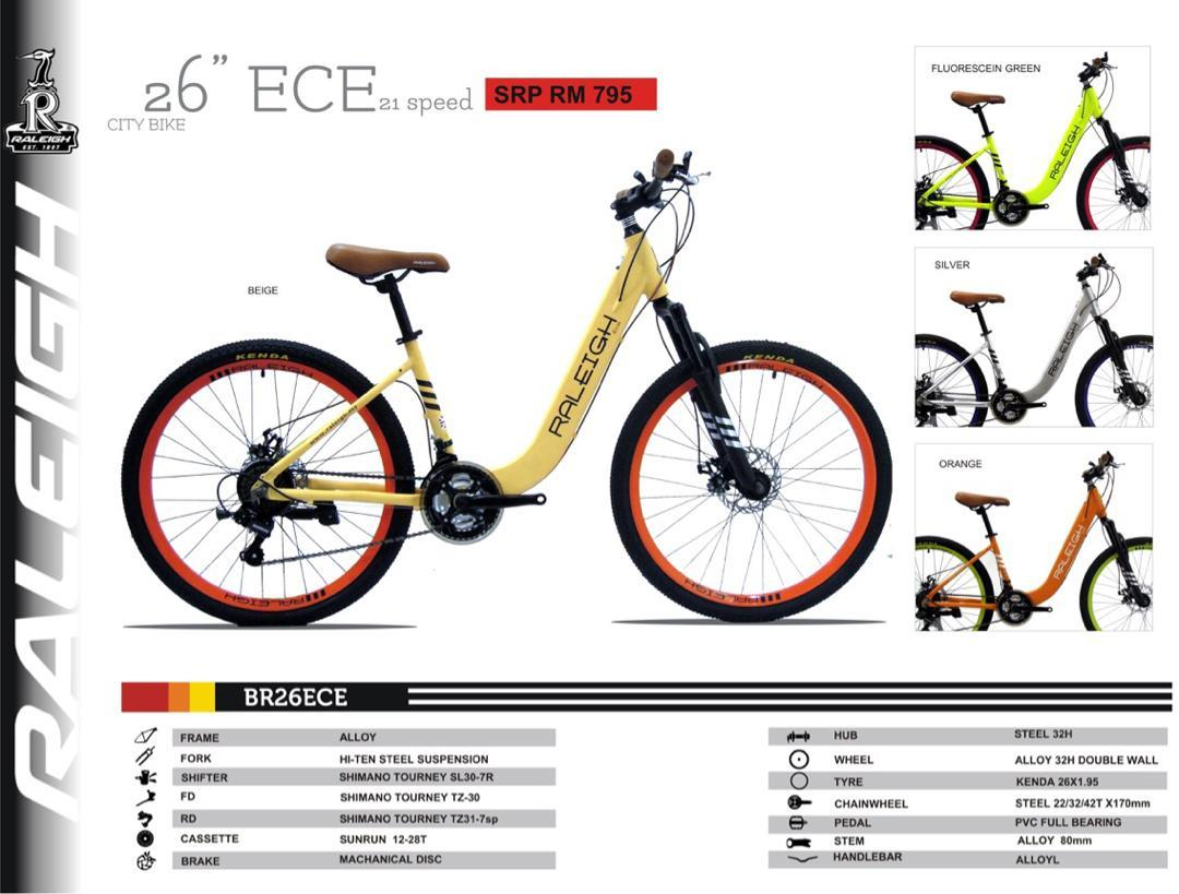 RALEIGH 26¡¡ÀCity Bike ECE 21sp ( Free Post )