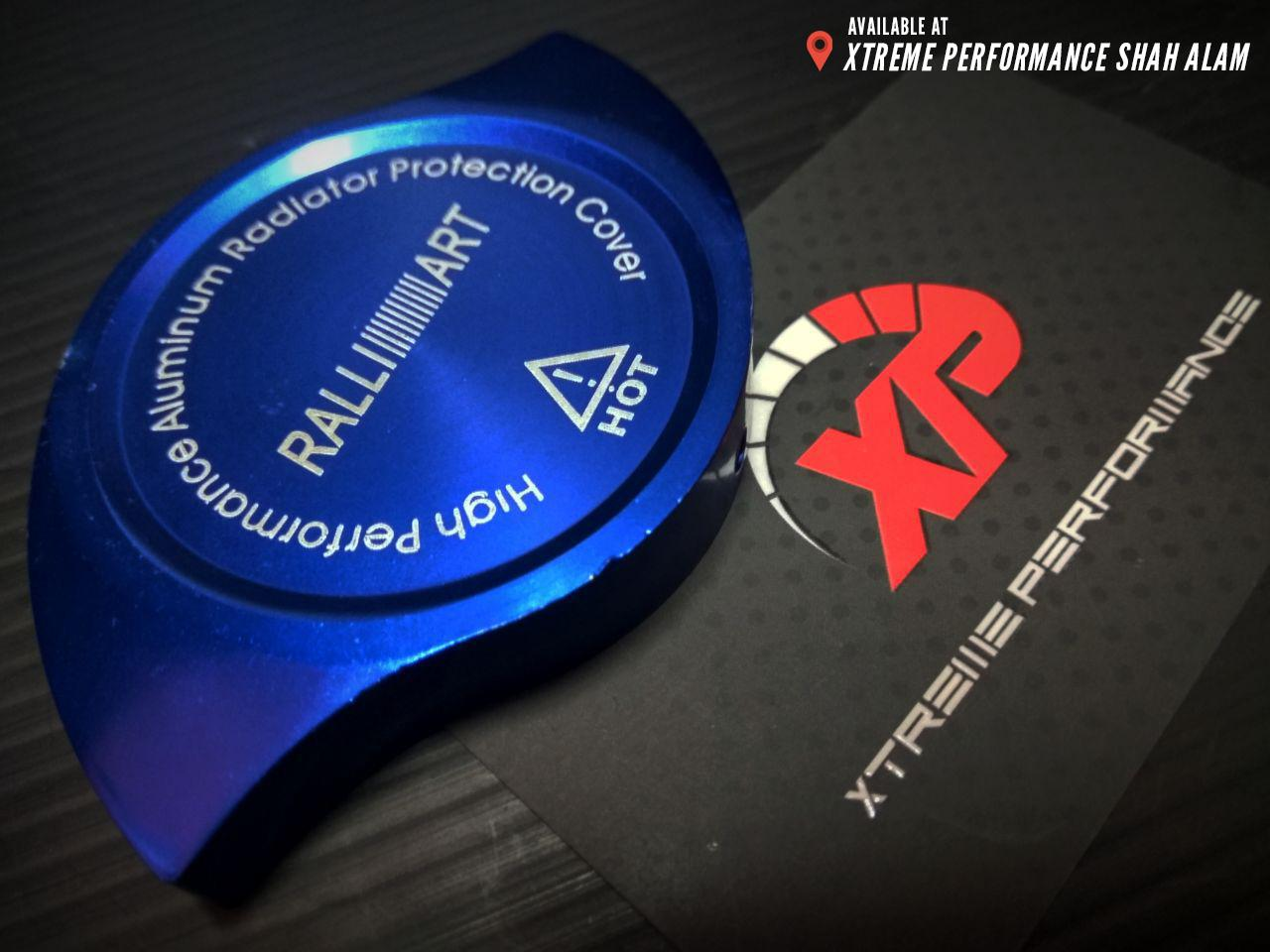 Ralliart Radiator Cap Cover Anodized Aluminium Blue Color