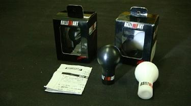 Ralliart Teflon Gear Knob Universal [White / Black Colour Available]