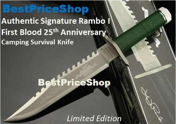 Rambo 1 - First Blood 25th Anniversary Camping Survival Hunting Knife