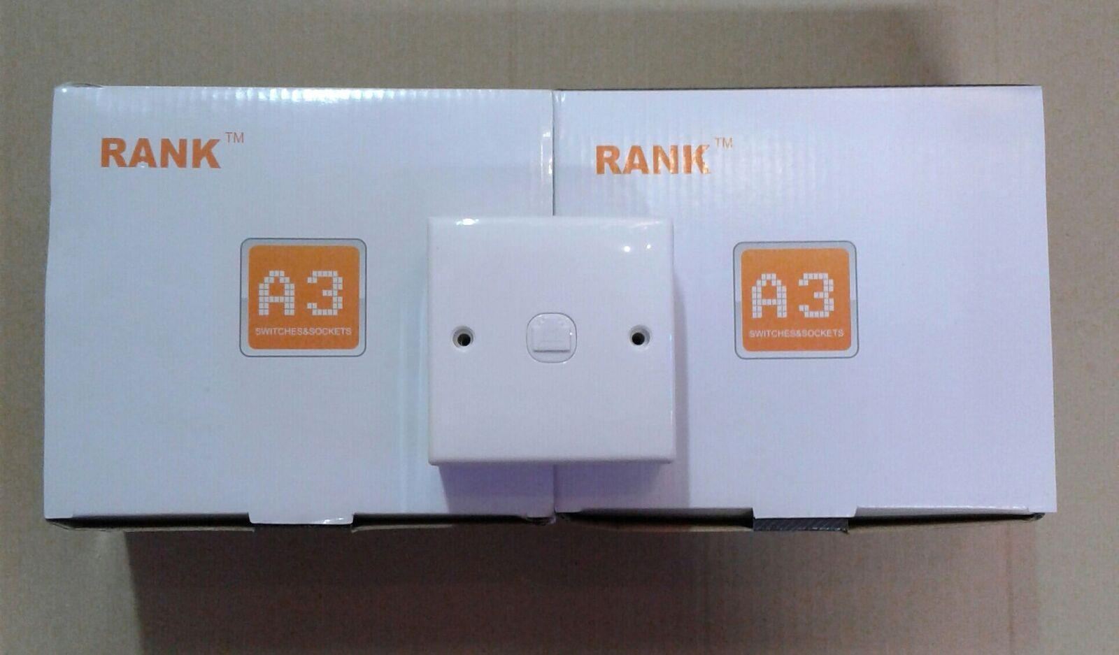 RANK A3 1 GANG RJ45 COMPUTER SOCKET CAT5E