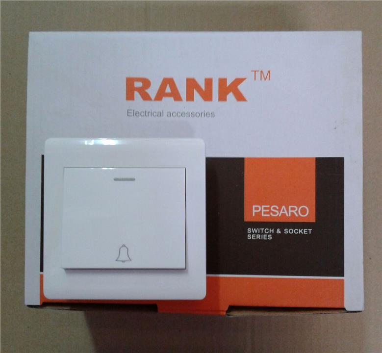 RANK PESARO 1GANG BELL SWITCHES