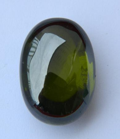 Rare & natural big dark green Naga Eye oval flatten-NE01