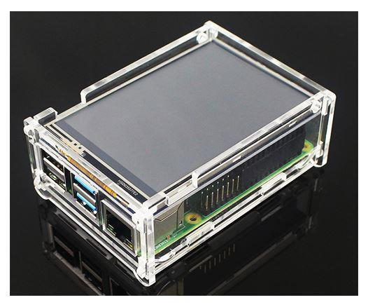 Raspberry Pi 4 4B - Acrylic Transparent Casing Box Enclosure With Fan